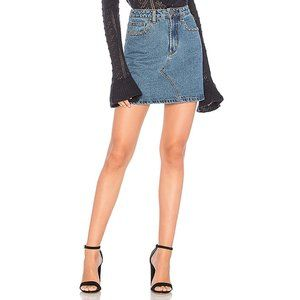 MINKPINK NWT denim Roller Studded Mini Skirt